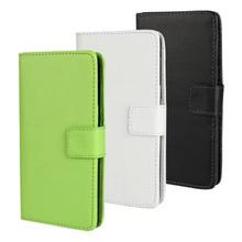 For Microsoft Lumia 535 Case Plain leather Card Holder Leather Wallet Flip Cover Case For Microsoft Lumia 535 Inner TPU Case(China (Mainland))