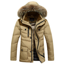 2014 New Men Jackets Winter Men Warm Thermal 90% White Duck Down Long Section Down Coats Jackets