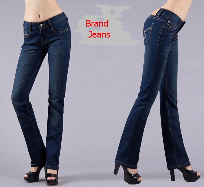 Hot Sell Fashion Women Jeans Designer Brand Leggings Ladies Pants Dark Blue Women Brand Elastic