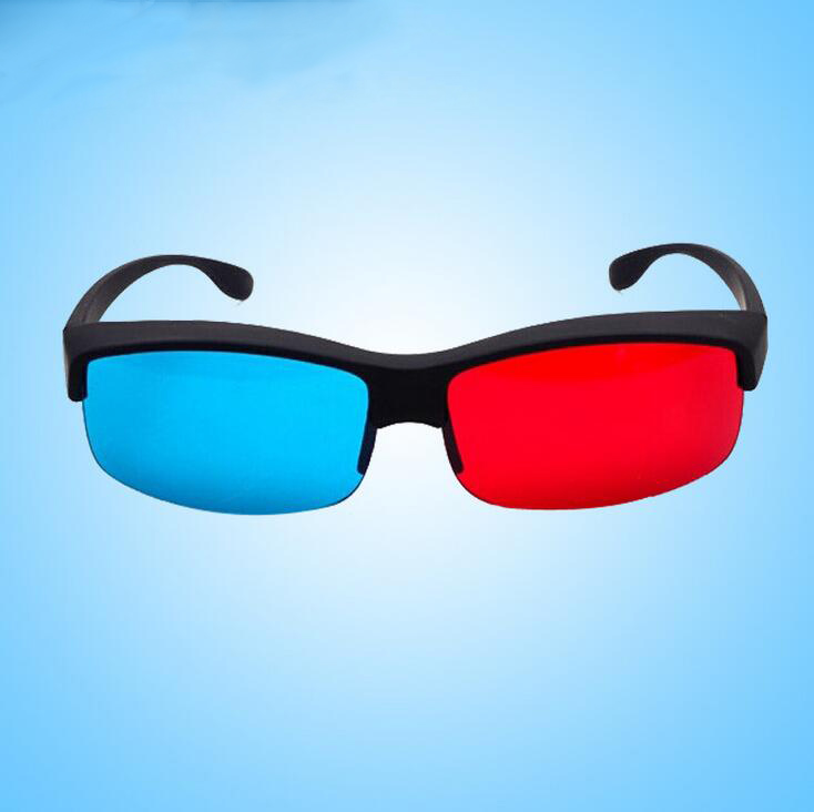 4 PCS The New Listing Black Frame Red Blue 3D Glasses For Dimensional Anaglyph Movie Game DVD Enjoying Blue Film Video Movies(China (Mainland))