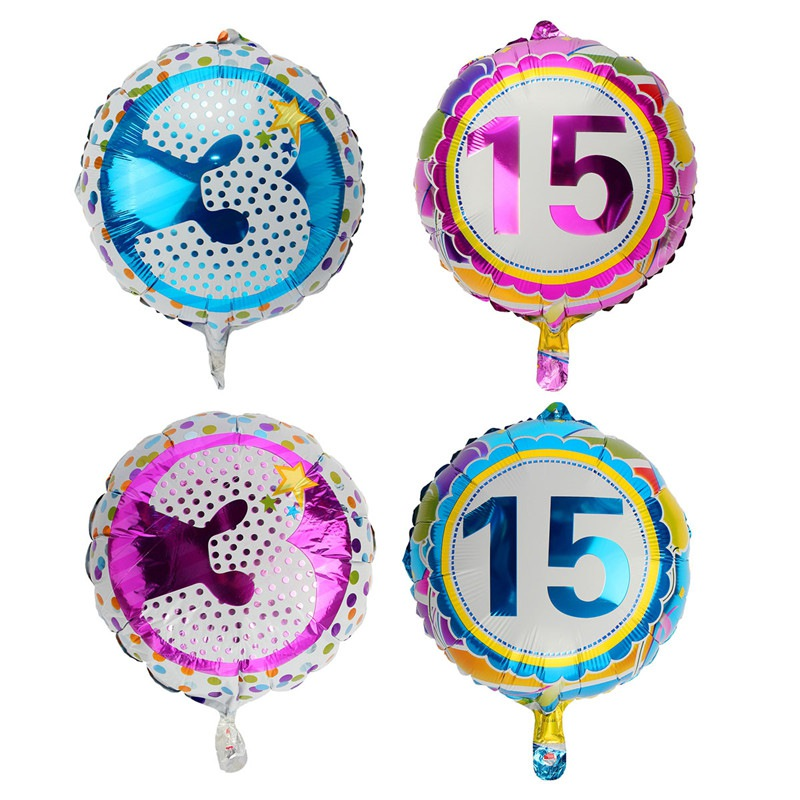Rainbow inflating foil balloon auto seal party birthday for Number 3 decorations