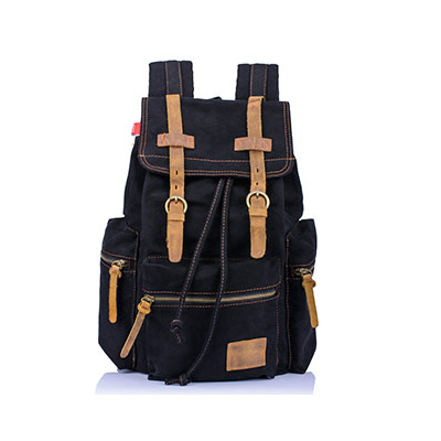 Free shipping men\s black canvas backpacks outdoor Vintage Canvas Backpack mountaineering backpack bag dinossauro school(China (Mainland))