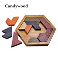Kids Puzzles Wooden Toys Tangram Jigsaw Board Wood Geometric Shape P Children Educational Toys