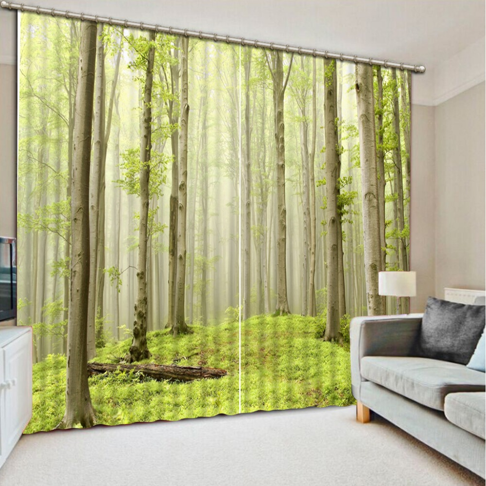 Cloud Window Curtains 3d Printing Nautical Home Decor: Popular Forest Green Curtains-Buy Cheap Forest Green