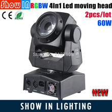 Buy 2016 Newest DJ Disco Party Wedding Stage Lighting Projector RGBW 4IN1 60W Mini LED Beam Wash LED Moving Head for $515.97 in AliExpress store