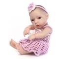 25cm Full Silicone Reborn Baby Doll Toy For kids Mini Girls Newborn Babies Doll Birthday Gift