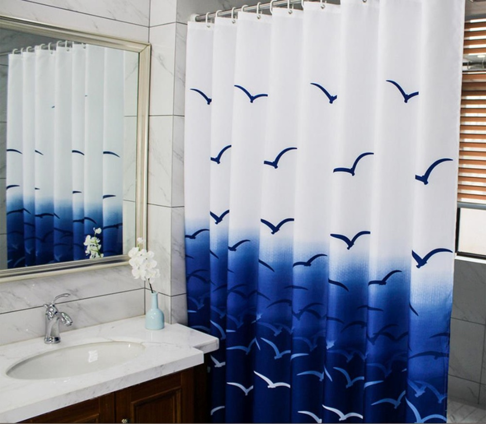 Red toile shower curtain