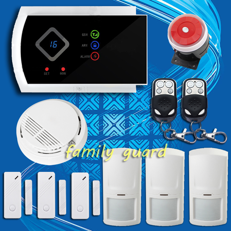 product DHL Free shipping!new sensor support  Android APP Calling Modify 99 wireless zone smoke fire GSM SMS Home Security Alarm system