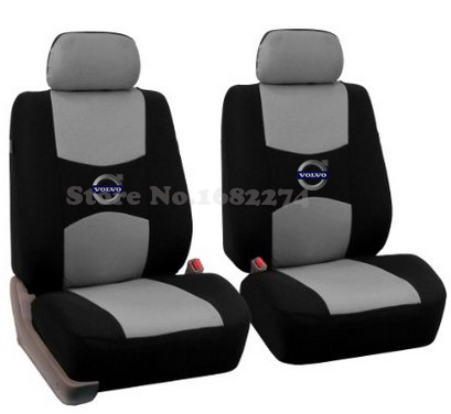 buy linen style universal car seat cover volvo s40 s80 xc60 xc70 xc90 5 seats 2 pillows logo. Black Bedroom Furniture Sets. Home Design Ideas
