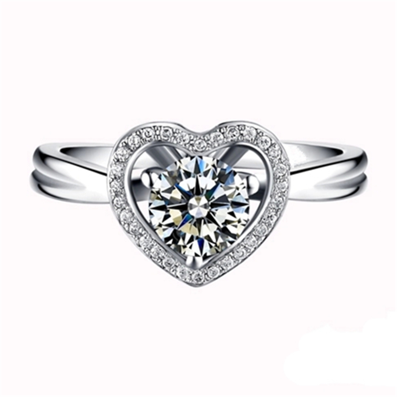 Top quality heart ring wedding band jewelry love for Best quality wedding rings