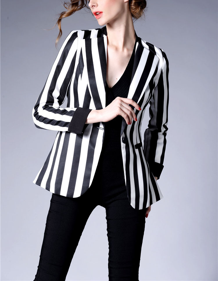 Womens Striped Blazer - Baggage Clothing