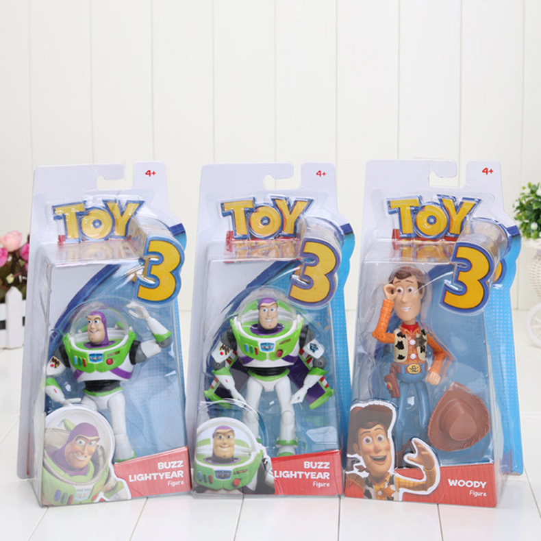 3 styles 7 inch Toy Story 3 Buzz Lightyear figures with wing and without wing and woody figure New Toy Doll In Box(China (Mainland))