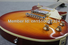 FREE SHIPPING BEST PRICE  OF NEW GIB  CHERRY ONE STANDARD ELECTRIC GUITAR WITH SILVER HARDWARE AND Single x celluloid(China (Mainland))