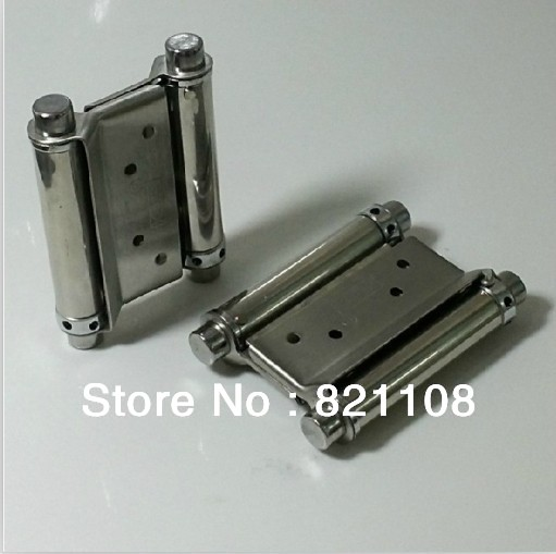 "2x 3"" Stainless Steel Double Spring Door Hinge Swing with Screws New(China (Mainland))"