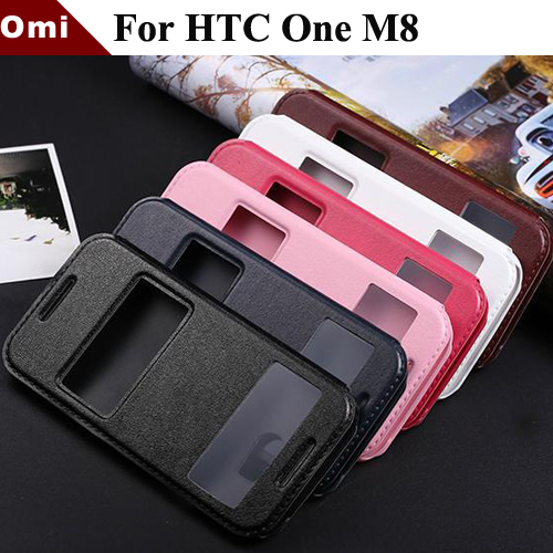 2014 New Luxury PU Leather Cover Case HTC One M8 M 8 Mobile Phone Bag Cases Shell Housing Flip Stand - Omi third Trading Co.,LTD store