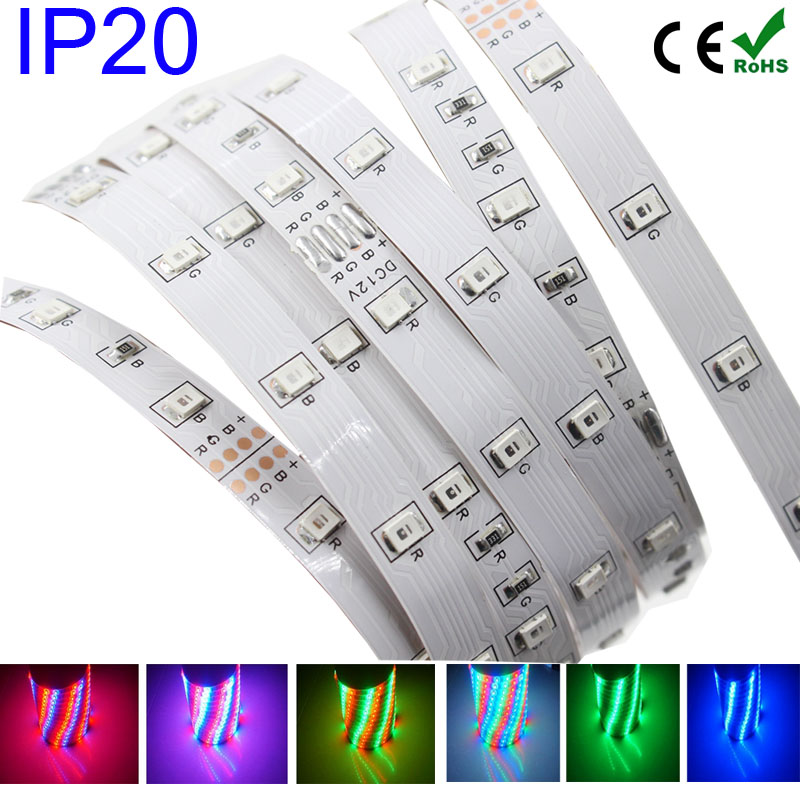 RIRI Won RGB LED Strip Light SMD 3528/2835 Waterproof LED RGB Tape Ribbon Flexible Light 54LED/M 5M RGB Strip Lamp(China (Mainland))
