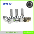 4 Pieces Alloy Steel Anti theft Wheel Screw Bolts with Key For BMW Benz Audi Volkswagen