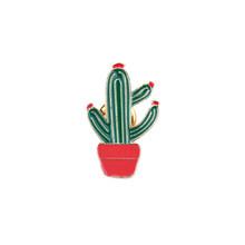 Del Fumetto di modo Cactus Spille Carino Mini Pianta in Vaso Smalto per le Donne Giubbotti jeans Risvolto Spilli Cappello Distintivi e Simboli Capretto Degli Accessori Dei Monili(China)
