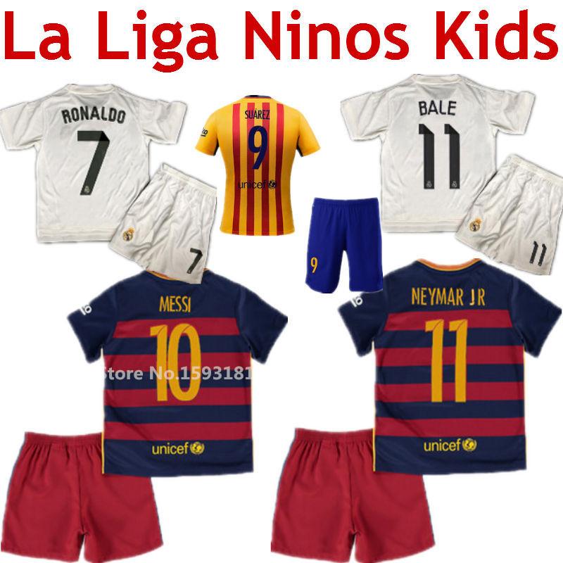 2016 Neymar 15/16 2016 kids soccer jersey футбольная форма made in china top thain barcelona 15 16 home soccer jersey 11 neymar jr