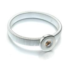 בום חיים חדש זהב כסף הצמד צמיד לנשים Fit DIY 18mm הצמד תכשיטי אלסטי כפתורי הצמד צמיד תכשיטים 6759(China)