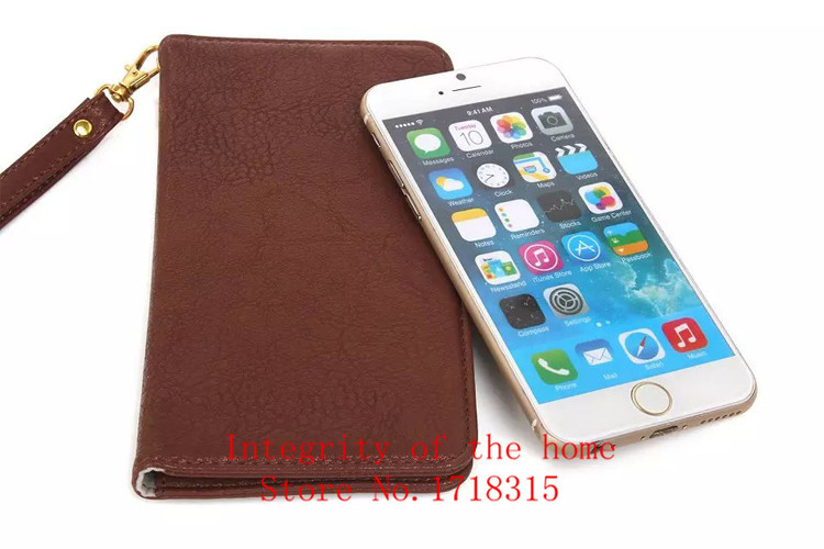 NEW 7 Grain cowhide Wallet Mobile Phone Bag leather Cover Case For Multi Phone Buttons Model Pouch Holster Bag +Tracking number(China (Mainland))