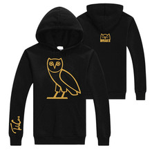 New Arrival Mens Hoodie Drake OVOXO Owl Sweat Shirt Coat Jacket Autumn High Quality 7 colors Free Shipping(China (Mainland))