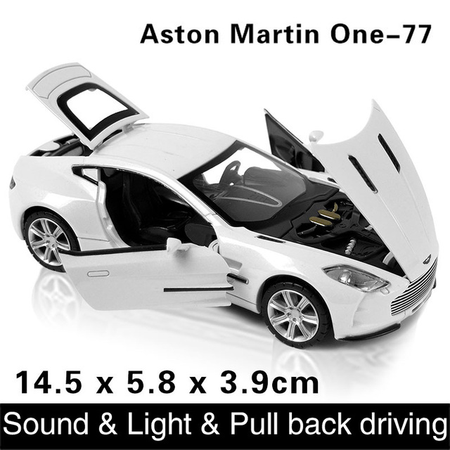 1:32  kids toys aston martin one-77 metal toy cars model for children pull back car miniatures gifts for boys