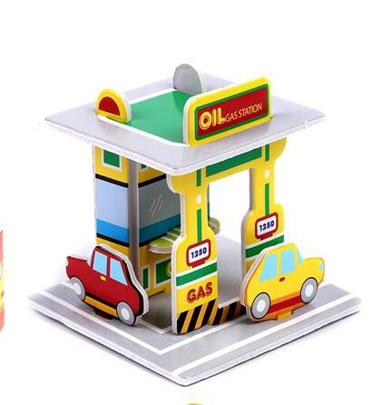 Paper Puzzles Kids Educational Toys DIY 3D Jigsaw Puzzle Gift Children Adults Cartoon Castle - Shenzhen Ontop Technology Ltd. Company store