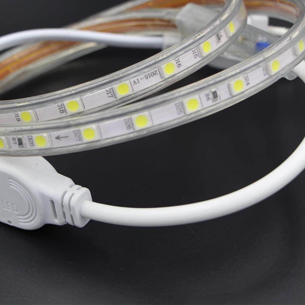 220v led tape smd5050 60led m white warm white led strip. Black Bedroom Furniture Sets. Home Design Ideas