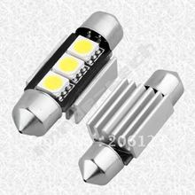 39 mm 3-SMD nombre LED Plate Can bus pas d'erreur blanc TG(China (Mainland))