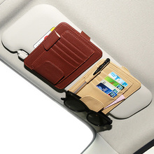 Buy New Auto Car Sun Visor Clip Sun Glasses Sunglasses Credit Card Pen Holder Clip Multifunctional Storage Bag Fastener Clip Mat for $4.39 in AliExpress store