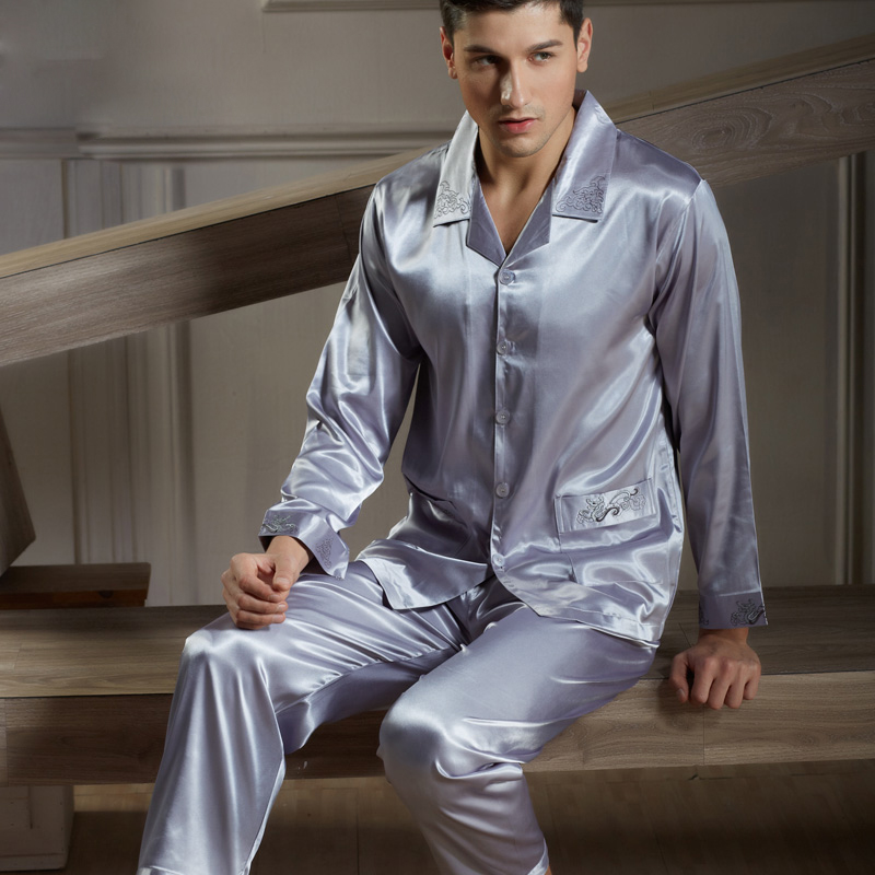 Popular Silk Pajamas Button-Buy Cheap Silk Pajamas Button lots ...