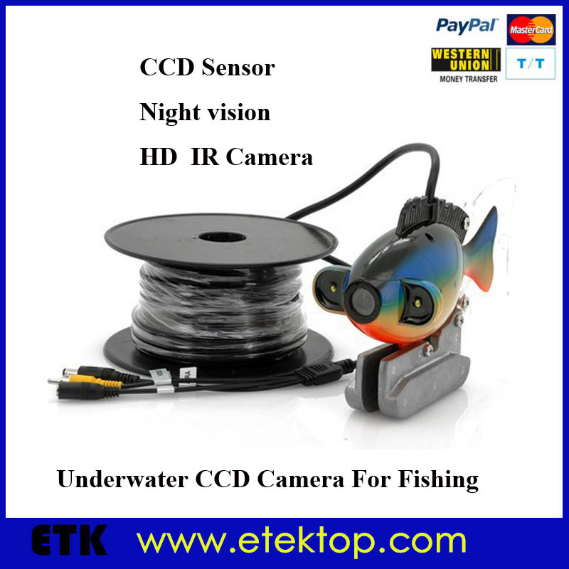 Underwater CCD Camera Night Vision LED Lights For Fishing Inspection With 50m Cable(China (Mainland))