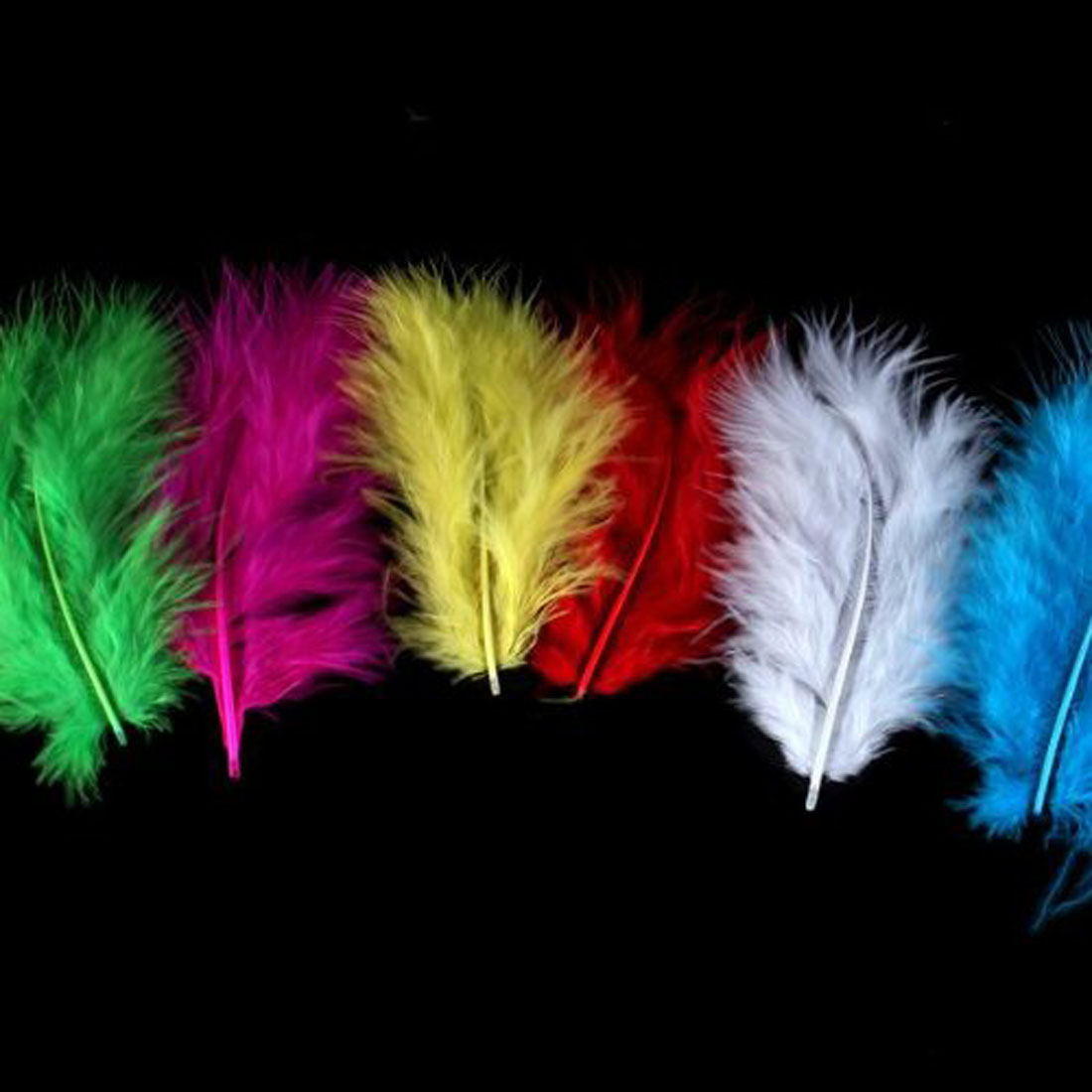 New Arrival 120pcs/set Assorted Color Pretty Feather Short Chicken Turkey Plume Plumage Free Shipping