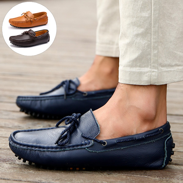 Cow Genuine Leather Fashion Casual Loafers Men Driving Shoes Mocassins Spring Summer Sapatos Masculinos Social Scarpe Uomo  -  CN Shoes store