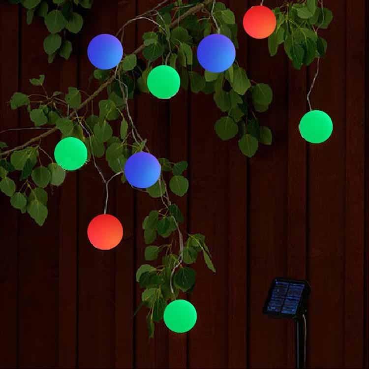 led string 10M 20 balls Solar Fairy Light Garden ball light Outdoor Wedding lantern Home decoration patio luci natale esterno(China (Mainland))