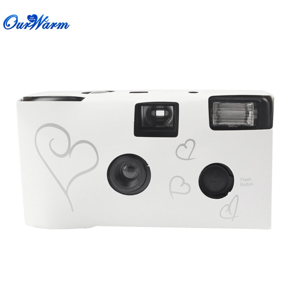 wholesale 20 sets Single Use Disposable Wedding Bridal Camera 36 photos Silver Funny Heart With Flash and Table Card(China (Mainland))