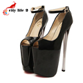 Sexy Nightclub Women Shoes Big Yards 40 43 Summer New High Heels 19cm And 22cm Peep