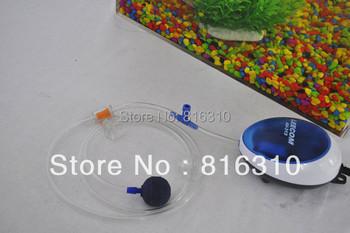 Freeshipping Brand New 1.7W Aquarium Air Pump Oxygen Pump with Corundum stone and 2M hosepipe fish tank pump 220-240V