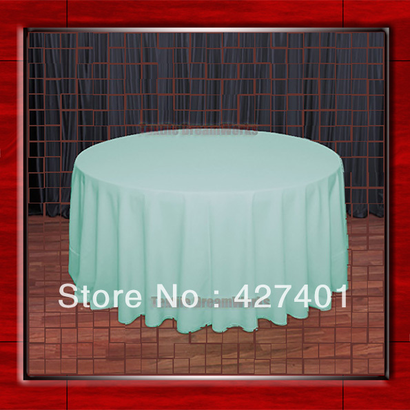 """120""""R Mint 210GSM Polyester plain Table Cloth For Wedding Events & Party Decoration(Supplier)(China (Mainland))"""
