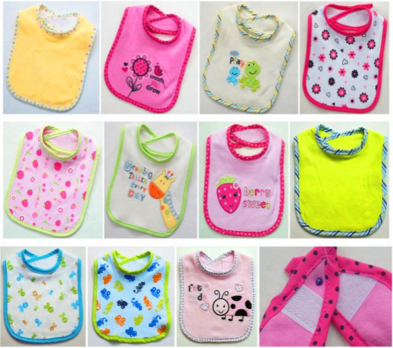 Knitted Cotton Infant Bibs Bib Snap bibs Waterproof Bandage Cartoon Baby Products - Top Buy store