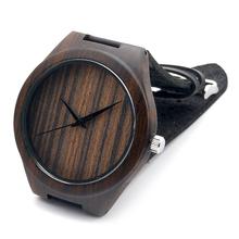Top Quality Luxury Bamboo Wood Watch with Cow Leather Strap Quartz Analog Men Wooden Wristwatch Relogio Feminino Clock