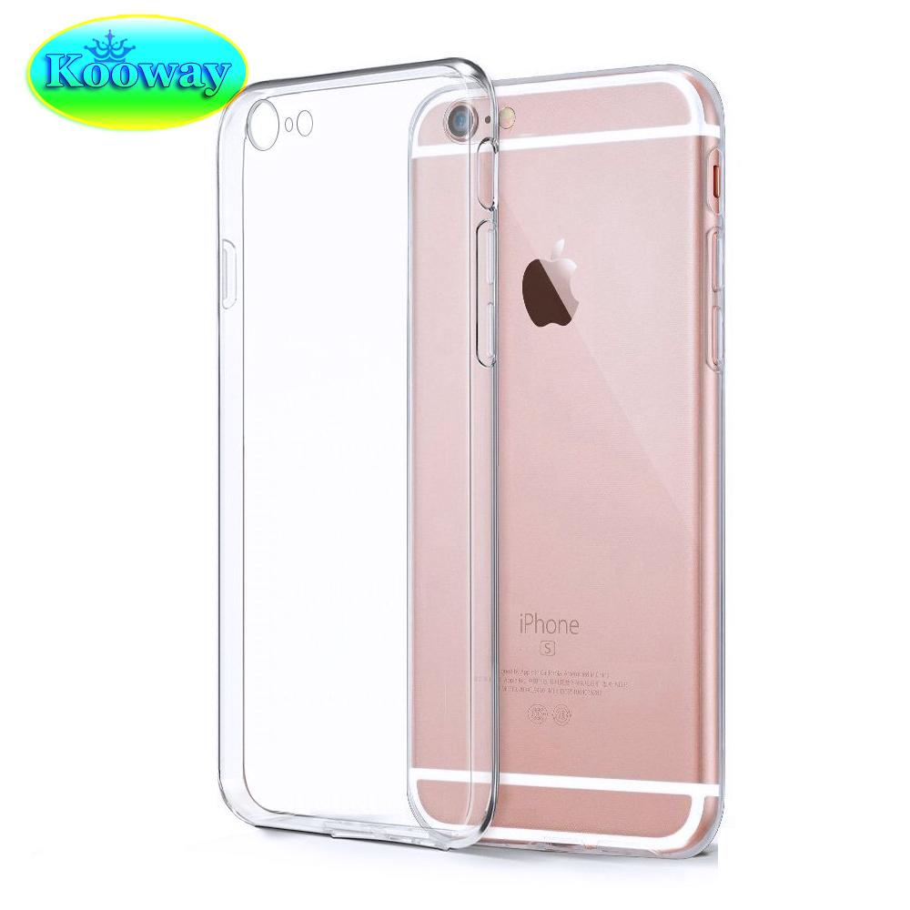 Ultra Thin Transparent Clear Soft Gel TPU Case iPhone 7 6S 4.7inch / 6 & Plus 5.5inch Flexible Rubber Silicone - Kooway Tech Co.,LTD store