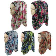 Muslim hijabs 33 colors Fashion Jersey Cotton Headband floral design Women scarves & wraps Free Shipping Islamic Hijab(China (Mainland))