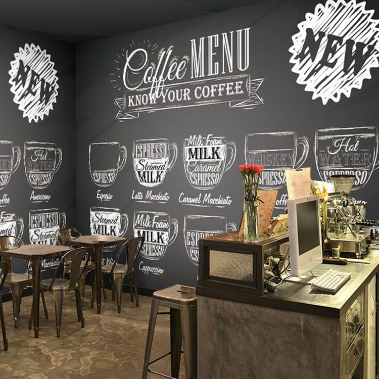 Wallpaper digital picture more detailed picture about for Cafe wall mural