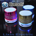 2016 New LED Light Portable Mini Metal Steel Wireless Bluetooth Speaker Music Amplifier with FM Radio