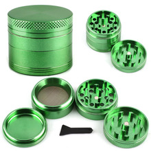New Arrival 40mm 4Part Aluminium Metal Herb Spice Pollinator Grinder Tobacco Smoke Grinder Green 7 Colors In Store(China (Mainland))
