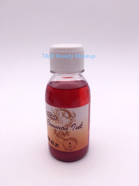 1 Bottle Temporary Airbrush Tattoo Makeup Red Ink For Body Painting Free Shipping