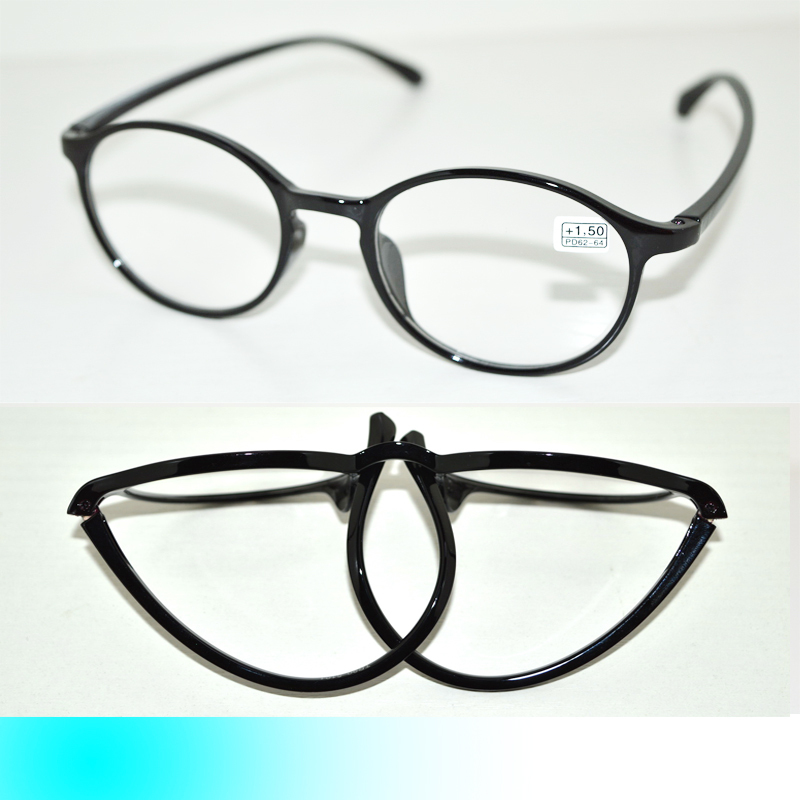 Women s Large Frame Reading Glasses : =FIVE PAIRS= BLACK TR90 BENDABLE FOLDING STRECHABLE LARGE ...