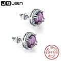 JQUEEN brand jewelry 925 sterling silver earrings 3 8Ct Garnet Engagement Wedding Earrings brincos vintage earrings